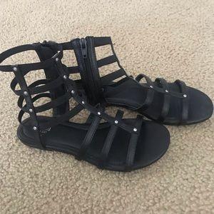 Gladiator black with stud sandals